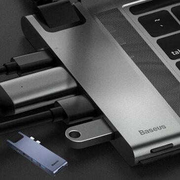 USBハブ 7in1 Type C HDMI出力 4K Type-Cハブ 7ポート USB3.0 USB HUB PD 急速充電 マルチ 充電器 ハブ コンパクトマウス キーボード スリム 軽量 データー転送 スマホ iPhone スマートフォン 有線LAN MacBook Pro 変換アダプター