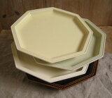 日本製/スタジオエム(スタジオM) ガティプレート ホワイト アメ グリーン クリーム お皿 食器 ケーキ皿 パン皿 平皿 食器【あす楽対応】