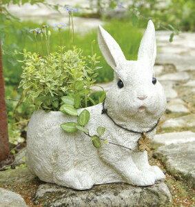 ラビッツファームプランター L うさぎ ウサギ ラビット rabbit 動物 アニマル 底穴あり プランター 鉢 植木鉢 ポット ガーデニング雑貨 アンティーク 鉢カバー おしゃれ かわいい 玄関 ガーデン 庭先