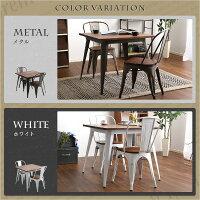 おしゃれなアンティークダイニングテーブル(80cm幅)木製、天然木のニレ材を使用 Porian-ポリアン-【OG】ベッド館