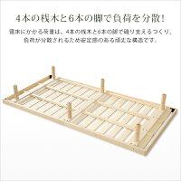 3段階高さ調整付きすのこベッド(シングル)レッドパイン無垢材ベッドベッドフレーム簡単組み立て|Scala-スカーラ-bedヘッドレスすのこベッド木製ワンルームシンプル【OG】ベッド館