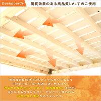 ベッド3段ベッドすのこベッドシングルベッド平柱3段ベッド木製平柱【OG】グランデキッチン