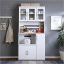 食器棚 キッチン収納 引き戸 90cm 180cm 北欧 ス...
