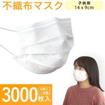 企業 工場 職場 向け 使い捨てマスク 3000枚入り 子供用 女性用 法人向け【OG】