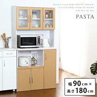 Newパスタシリーズ食器棚キッチンボードレンジ台2トーンカラーが魅力です【あす楽対応_近畿】【OG】【送料無料】【smtb-k】【w4】【YDKG-tk】