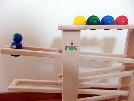 ニックnicNICスロープニックスロープ【木のおもちゃ木製知育玩具出産祝い誕生日スロープニックニックスロープ赤ちゃんベビー0歳1歳2歳3歳】