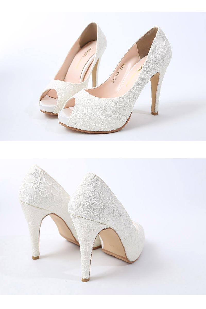 GrandLapin(グランラパン)『WeddingShoesオープントゥパンプス』