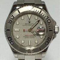 ロレックスROLEXヨットマスターロレジウム16622メンズスポーツモデル腕時計自動巻SS×PTプラチナOH済【中古】Aランク極美品