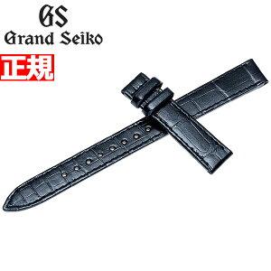 精工GRAND SEIKO替换带皮带女士珍珠黑色鳄鱼皮13mm R4J13BC