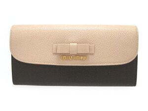 ミュウミュウ 財布 miu miu サイフ 高級感あるレザーの長財布。 ★2015新作モデル・新品・正規...