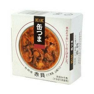 K&K 缶つま 赤貝どて煮 山椒入り 70g×24缶入 【配送区分A】hs