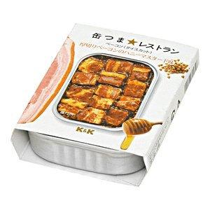 おつまみにお勧めの高品質缶詰★K&K 缶つま 厚切りベーコンのハニーマスタード味 105g×24缶...