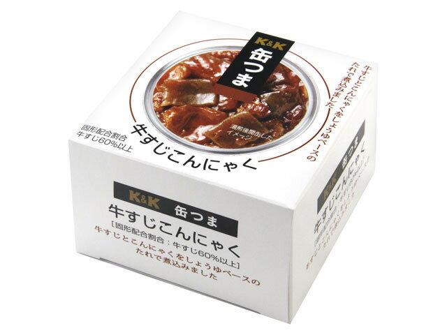 K&K 缶つま 牛すじこんにゃく 140g×24缶入 【配送区分A】hs