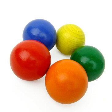 【コイデ コロコロ/キンコン対応 木球パーツ】木のボール カラフル 赤 青 黄 緑 橙