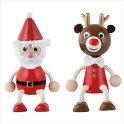 クリスマス木の人形サンタクロース・トナカイセット