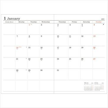 手帳 2019 スケジュール帳 ダイアリー ウィークリー・レフト 2018年10月始まり B6変型 リフィル レフィル 差替え用 マークス