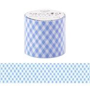 マスキングテープ/手帳/水性ペンで書けるマスキングテープ/小巻/40mm幅/「マステ」/チェック/ブルー/青/あお/マークス