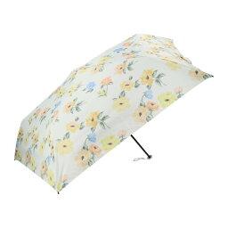 軽量 日傘 折りたたみ フロレゾン2 花 花柄 イエロー 黄色 JOURNALIER ジョルナリエ マークス