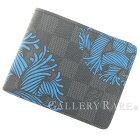ルイヴィトン財布ダミエ・グラフィットポルトフォイユ・スレンダーN41679LOUISVUITTONヴィトンメンズ札入れ二つ折り財布ロープ・パターン