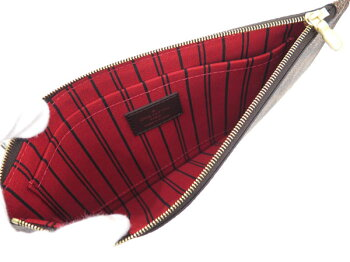 ルイヴィトントートバッグダミエネヴァーフルMMポーチ付きN41358LOUISVUITTONバッグ