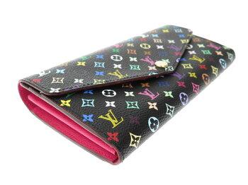 ルイヴィトン長財布モノグラムマルチカラーポルトフォイユ・サラM60668LOUISVUITTONヴィトン財布
