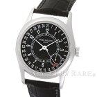 パテックフィリップカラトラバ黒文字盤6000G-001PATEKPHILIPPE腕時計【安心保証】【中古】