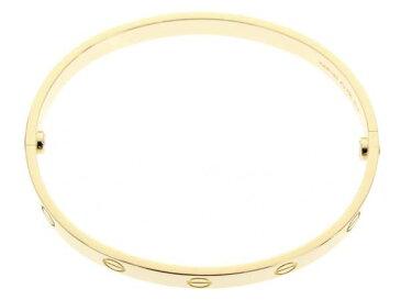 カルティエ ブレスレット ラブブレス K18YGイエローゴールド サイズ18 新型金具 CRB6035518 Cartier ジュエリー【安心保証】【中古】
