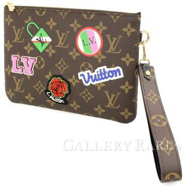 ルイヴィトン ポーチ モノグラム シティーポーチ M63447 LOUIS VUITTON ヴィトン バッグ クラッチバッグ ステッカー 刺繍 パッチ