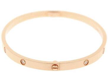 カルティエ ブレスレット ラブブレス SM ダイヤモンド 10P 計0.21ct K18PG ピンクゴールド サイズ17 B6047917 Cartier ジュエリー バングル 新型金具【中古】