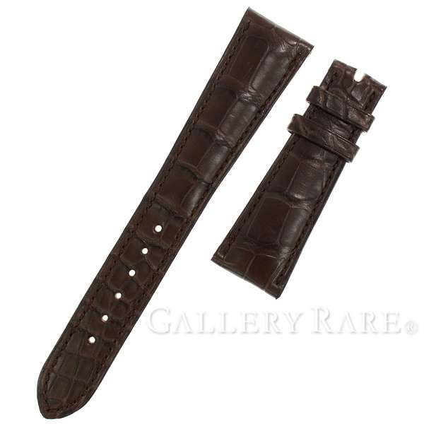 The men whom there is no band luster for the パテックフィリップ spare belt crocodile dark brown pure mat D buckle PATEK PHILIPPE leather belt watch in