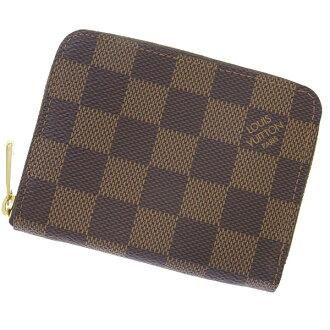 Put Louis Vuitton coin purse Damier zippy coin purse N63070 VUITTON LOUIS VUITTON wallet coin