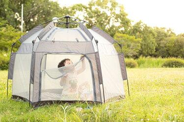 マジックテント 約2秒で完成!組み立て不要でキッズルームにもなるワンタッチテント室内でも子供が安全に遊べる魔法のテント