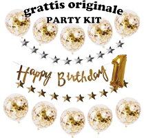 スターガーランド&バースデーガーランドコンフェッティバルーンセット誕生日バルーンバースデー装飾飾り男の子女の子