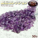 《2月の誕生石》アメジスト[紫水晶]・鉱石コレクション チップス 〈約50...