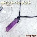 《2月の誕生石》アメジスト[紫水晶]・ポイントペンダント・L(ネックレ...