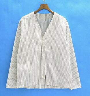 Casely-Hayford (ケイスリーヘイフォード) 2011SS WRAP SHIRT M stripe shirt