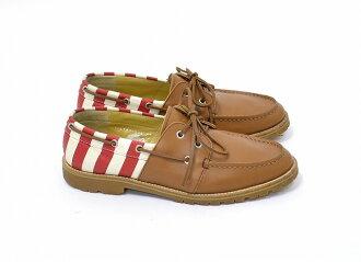 現象 (現象) 莫卡辛 (畫布) 莫卡辛皮革 / 帆布 43 棕色棕色甲板鞋