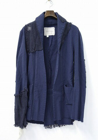 メンズファッション, コート・ジャケット  GREG LAUREN () THE EXTENDED SHAWL COLLAR 1 INDIGO