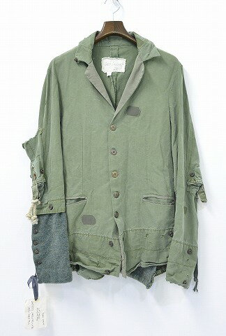 メンズファッション, コート・ジャケット  GREG LAUREN () THE ARMY TENT BUTTON FRONT DICKENS 1 OLIVE