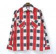 【中古】NEEDLES (ニードルス) Plaid Flannel Work Shirt プレイド フランネルワークシャツ RED/GREY/BLACK L レッド/グレー/ブラック CHECK チェック ニードルズ Nepenthes ネペンテス