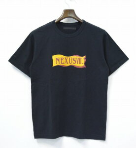【中古】NEXUSVII(ネクサスセブン)EXTRORenewalTeeリニューアルTシャツBLACK44ブラックSpecialLimitedEdition記念限定T-ShirtsRIBBONリボンLOGOロゴCROSSクロスNEXUS7