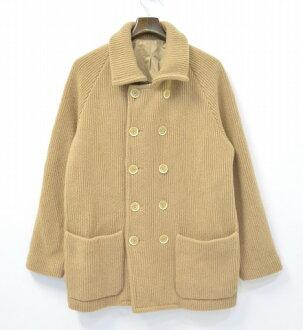 BARENA (varėnas) P 針織外套 48 米色針織外套雙排扣的豌豆外套外面