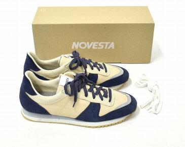 【新品同様】【訳あり】 NOVESTA (ノヴェスタ) MARATHON CLASSIC マラソンクラシック 42 NAVY×BEIGE ランニング シューズ スニーカー 靴 【中古】