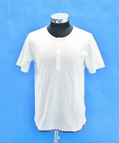 トップス, Tシャツ・カットソー  VISVIM () SUBLIG HENLEY SS TEE T 2 WHITE T-SHIRT MADE IN JAPAN