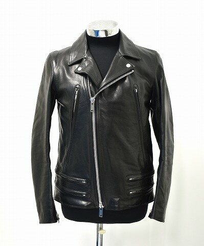 メンズファッション, コート・ジャケット  UNDERCOVERISM () L4202-3 LEATHER DOUBLE RIDERS 2 BLACK JACKET COW HIDE