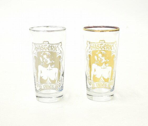 グラス・タンブラー, タンブラー  HYSTERIC GLAMOUR () HYSTERRIC VIBES GLASS HYS SILVER GOLD HG 2