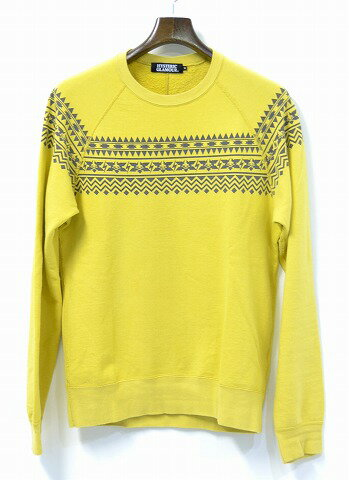 トップス, スウェット・トレーナー HYSTERIC GLAMOUR () TRIBAL MUSTER pt SW PULLOVER CREW NECK SWEAT WOMAN ON SKULL yellow M