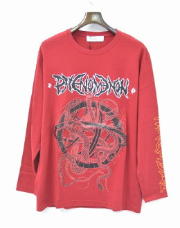 PHENOMENON(fenomenon)CRUSTY PRINT LONG T-SHIRT克裏斯蒂印刷長袖子T恤朗TEE L/S T-SHIRT RED L