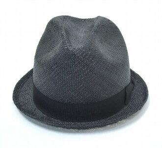 昂首闊步 (大搖大擺) 稻草帽子草帽黑色 M 甚而帽子草帽茅草屋