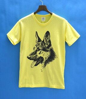 Mr.GENTLEMAN (先生) 君君的狗臉的狗臉 T 恤短 t 恤圓領短袖 t 恤 MG14S TE20 黃色 L
